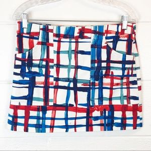 Kate Spade Saturday Painted Windowpane Skirt Small